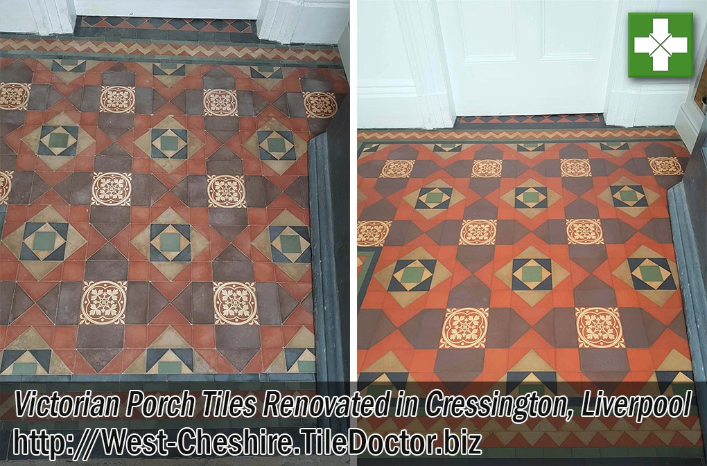 Victorian-Tiled-Porch-Before-After-Cleaning-Liverpool
