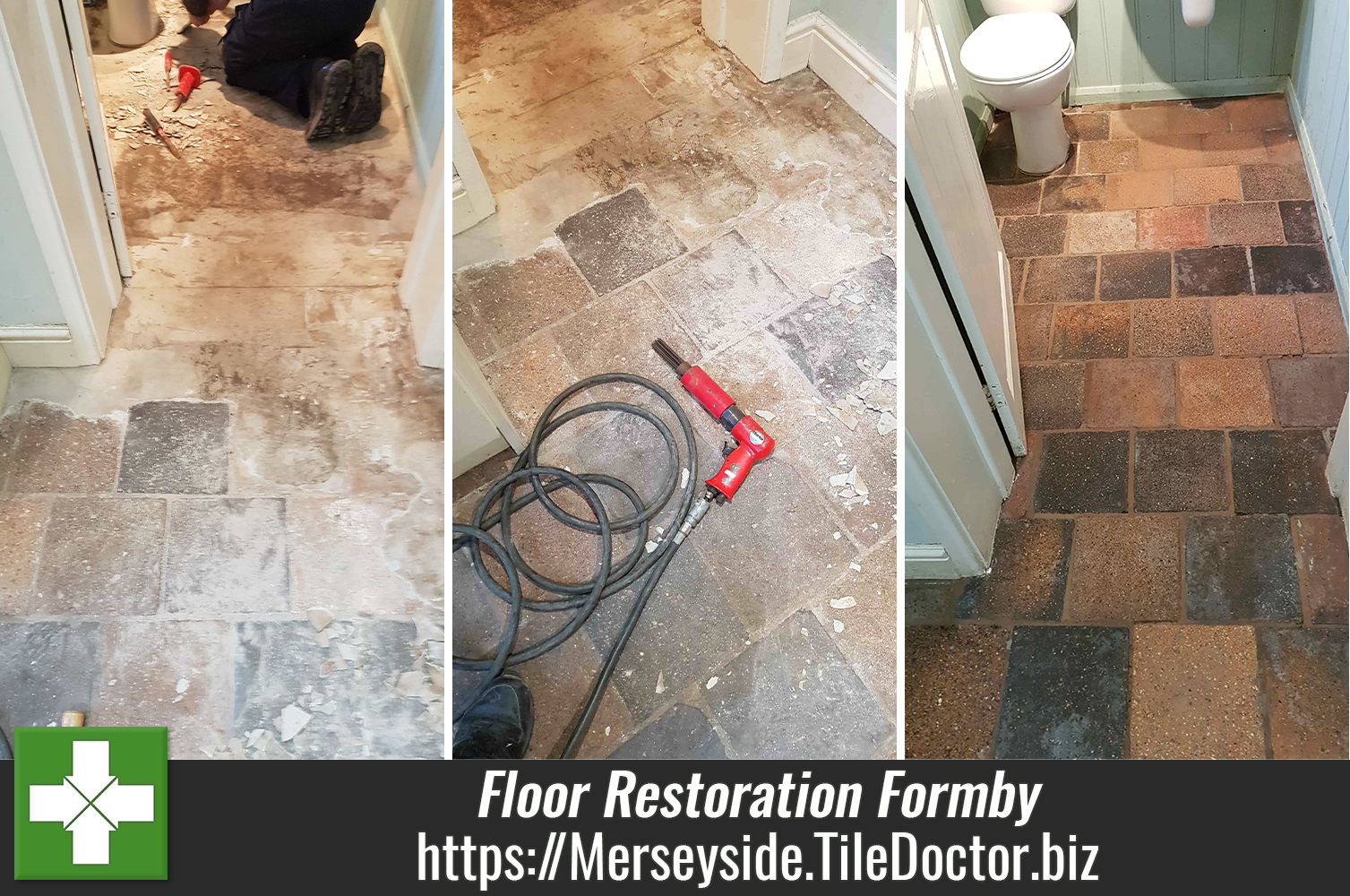 Restoring a Cement Covered Tiled Floor in Formby